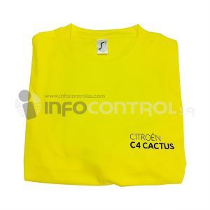 camiseta amarillo textil