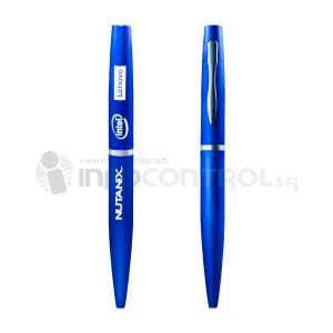 bolígrafo azul oficina escritura papelería