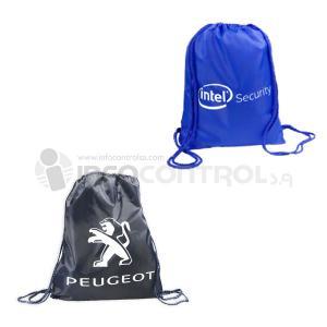 bolsas publicidad peugeot azul negro mochila ligero