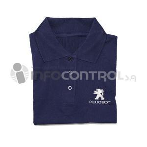 camisa manga corta azul textil