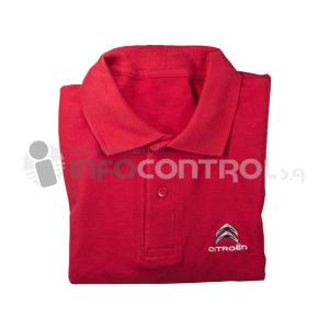 camisa manga corta rojo textil
