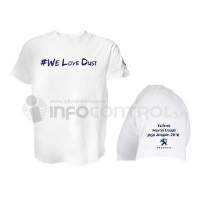 estampados serigrafia camiseta blanca