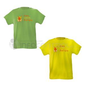 camiseta verde amarillo textil ropa