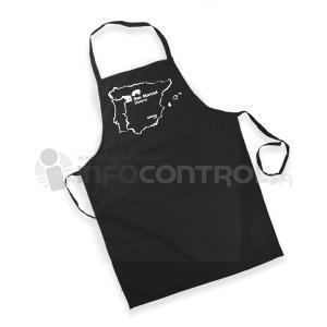 delantal negro cocina cocinero textil