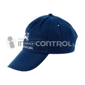 gorra azul oscuro marca promocion
